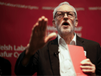 BANGOR, WALES - DECEMBER 08: Labour Leader Jeremy Corbyn addresses supporters during an election campaign event at Bangor University on December 08, 2019 in Bangor, Wales. In the last week of campaigning in the general election, political parties are making a big push for votes before the people go top …