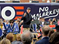 Democratic presidential candidate Joe Biden speaks during a campaign event in Council Bluffs, Iowa, Saturday. Photo: Joshua Lott/Getty Images