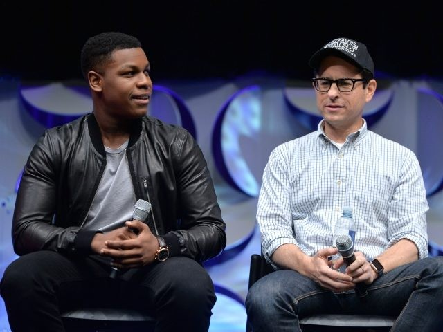 ANAHEIM, CA - APRIL 16: Actor John Boyega (L) and Director J.J. Abrams speak onstage during Star Wars Celebration 2015 on April 16, 2015 in Anaheim, California. (Photo by Alberto E. Rodriguez/Getty Images for Disney)