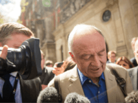 LONDON, ENGLAND - APRIL 28: Ken Livingstone speaks to reporters as he leaves Milbank Studios on April 28, 2016 in London, England. Mr Livingstone has been suspended from Labour Party for comments made while defending Naz Shah, the Labour MP suspended over 'anti-Semitic' comments. (Photo by Rob Stothard/Getty Images)