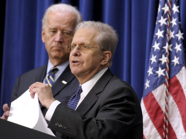 Laurence Tribe and Joe Biden (Susan Walsh / Associated Press)