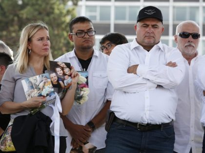 Members of the LeBaron family protest the murders of their nine family members at the hands of a ruthless Mexican cartel. (AP File Photo: Ginnette)Riquelme)