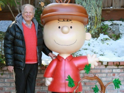 """This 2015 photo provided by Jason Mendelson shows Lee Mendelson in Hillsborough, Calif. Lee Mendelson, the producer who changed the face of the holidays when he brought """"A Charlie Brown Christmas"""" to television in 1965 and wrote the lyrics to its signature song, """"Christmas Time Is Here,"""" died on Christmas …"""
