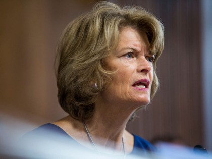 WASHINGTON, DC - MARCH 28: Senate Energy and Natural Resources Committee Chairman Senator Lisa Murkowski (R-AK) speaks during a Senate Energy and Natural Resources Committee confirmation hearing on March 28, 2019 in Washington, DC. (Photo by Zach Gibson/Getty Images)