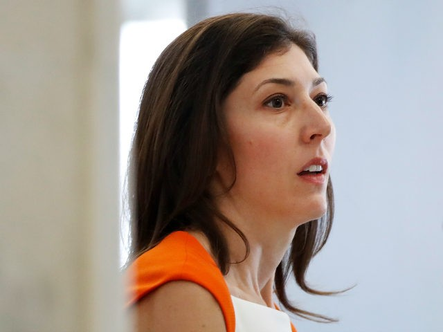 Former FBI lawyer Lisa Page arrives for a closed door interview with the House Judiciary and House Oversight committees, Monday, July 16, 2018, on Capitol Hill in Washington. (AP Photo/Jacquelyn Martin)