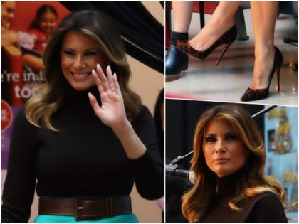 Fashion Notes: Melania Trump Brings Holiday Smiles to Children's Hospital in Leopard Stilettos