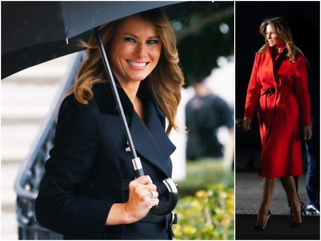 First Lady Melania Trump made a red hot luxury quick
