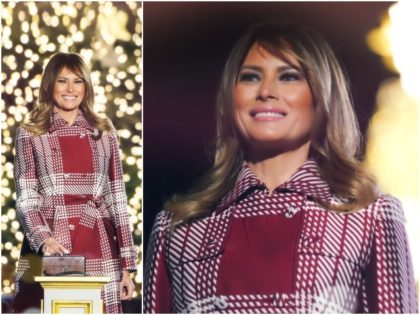 First Lady Melania Trump was wrapped up for winter cold …