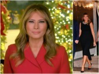 First Lady Melania Trump was bejeweled for Christmas Eve mass …