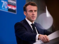 HERTFORD, ENGLAND - DECEMBER 04: French President Emmanuel Macron gives a press conference at the NATO summit at the Grove hotel on December 4, 2019 in Watford, England. France and the UK signed the Treaty of Dunkirk in 1947 in the aftermath of WW2 cementing a mutual alliance in the …