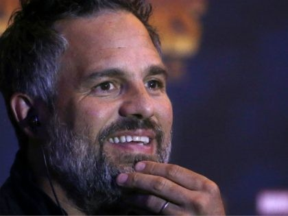 "Actor Mark Ruffalo takes part in a press conference to promote Marvel film, ""Avengers: Infinity War"", in Mexico City, Thursday, April 5, 2018. Ruffalo is cast as Bruce Banner and his alter ego the Hulk. (AP Photo/Marco Ugarte)"