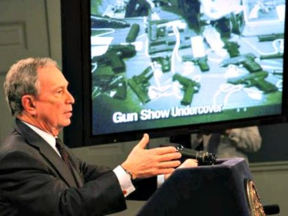 New York Mayor Michael Bloomberg, pictured in 2001 at City Hall, shows a video of an undercover gun purchase that took place at an Arizona gun show without a background check.(Edward Reed, New York City Mayor's Office)