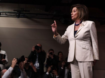 WASHINGTON, DC - DECEMBER 05: U.S. Speaker of the House Rep. Nancy Pelosi (D-CA) reacts to a reporter's question about whether she hates President Donald Trump during her weekly news conference December 5, 2019 on Capitol Hill in Washington, DC. Speaker Pelosi discussed the impeachment inquiry against President Donald Trump. …