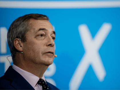 LONDON, ENGLAND - DECEMBER 10: Brexit Party leader Nigel Farage holds a press conference on December 10, 2019 in London, England. Mr Farage has revealed he will spoil his ballot paper at the general election because there is no Brexit Party candidate in his constituency and he refuses to vote …