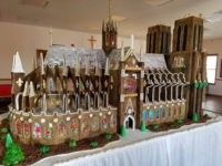 Church Members Create 7-Foot-Tall Gingerbread Replica of Notre Dame