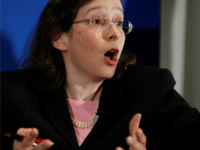 Sanford Law School professor Pamela Karlan speaks at the American Constitution Society gathered at the National Press Club, Friday, May 1, 2009, in Washington. Karlan, who co-founded the Stanford Law School Supreme Court Litigation Clinic, is a possible nominee to the U.S. Supreme Court. (AP Photo/Manuel Balce Ceneta)