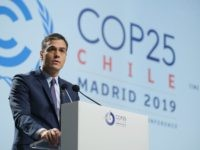 MADRID, SPAIN - DECEMBER 02: Spanish Prime Minister Pedro Sanchez speaks at the opening day of the UNFCCC COP25 climate conference on December 2, 2019 in Madrid, Spain. The conference brings together world leaders, climate activists, NGOs, indigenous people and others together for two weeks in an effort to focus …