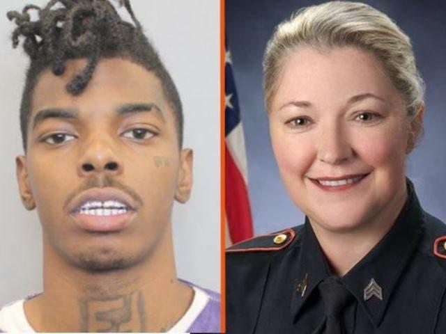 Accused cop-kiiller Tavores Dewayne Henderson and Nassau Bay Police Sergeant Kaila Sullivan. (police photos)