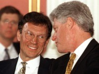 Tom Daschle and Bill Clinton (Tim Sloan / AFP / Getty)