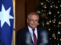 CANBERRA, AUSTRALIA - NOVEMBER 25: Prime Minister Scott Morrison speaks to media during a press conference at Parliament House on November 25, 2019 in Canberra, Australia. Australian spy agency ASIO is investigating reports China tried to plant an operative as an MP in a seat in Federal Parliament. Fairfax Media …