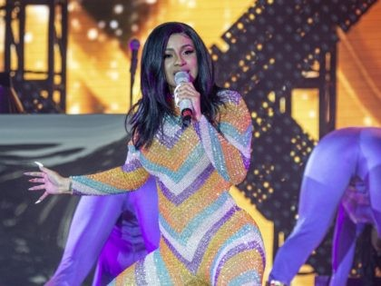 Cardi B performs at the Bonnaroo Music and Arts Festival on Sunday, June 16, 2019, in Manchester, Tenn. (Photo by Amy Harris/Invision/AP)