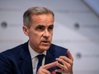 LONDON, ENGLAND - AUGUST 01: Mark Carney, governor of the Bank of England (BOE), speaks at the bank's quarterly inflation report news conference in the City of London on Augst 1, 2019 in London, England. . The BOE downgraded its growth forecast for this year and next, and warned that …