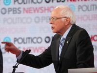 LOS ANGELES, CALIFORNIA - DECEMBER 19: Sen. Bernie Sanders (I-VT) (R) speaks as former Vice President Joe Biden listens during the Democratic presidential primary debate at Loyola Marymount University on December 19, 2019 in Los Angeles, California. Seven candidates out of the crowded field qualified for the 6th and last …