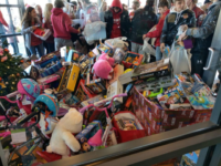 2019 Toby Keith Kids Korral Toy Ride 2019. Thank you to everyone who made it out, and to everyone who donated toys. This ride gets bigger and better every year. Santa's Express had a lobby full of toys......THANK YOU!!!