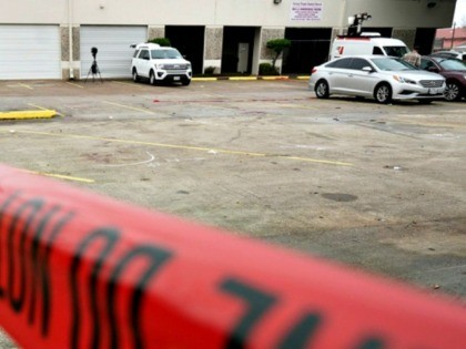 Two people were killed and seven others wounded in a drive-by shooting that occurred during the filming of a music video near Houston, Texas.
