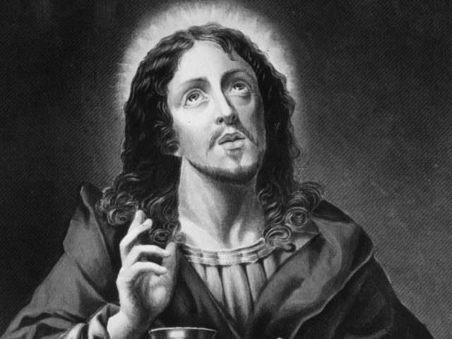 Circa 1600, Jesus Christ the Redeemer. Original Artwork: Engraving by W French, after painting by C Dolce. (Photo by Hulton Archive/Getty Images)