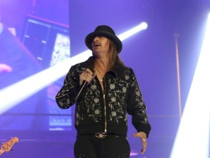 Kid Rock performs at the Infinite Energy Arena on Friday, February 9, 2018, in Atlanta. (Photo by Robb Cohen/Invision/AP)
