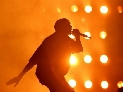 LAS VEGAS, NV - SEPTEMBER 18: Rapper Kanye West performs onstage at the 2015 iHeartRadio Music Festival at MGM Grand Garden Arena on September 18, 2015 in Las Vegas, Nevada. (Photo by Kevin Winter/Getty Images for iHeartMedia)