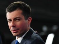 Democratic presidential hopeful Mayor of South Bend, Indiana, Pete Buttigieg speaks to the press in the Spin Room after participating in the fifth Democratic primary debate of the 2020 presidential campaign season co-hosted by MSNBC and The Washington Post at Tyler Perry Studios in Atlanta, Georgia on November 20, 2019. …