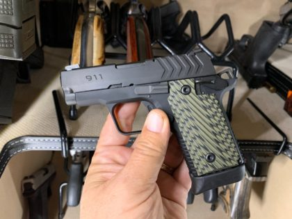 The Springfield Armory 911 is a micro pistol with remarkable grip panels, night sights, an ambidextrous safety, and maximum concealability.