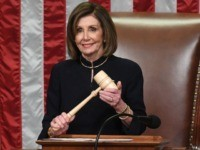 US Speaker of the House Nancy Pelosi presides over Resolution 755, Articles of Impeachment Against President Donald J. Trump as the House votes at the US Capitol in Washington, DC, on December 18, 2019. - The US House of Representatives voted 229-198 on Wednesday to impeach President Donald Trump for …