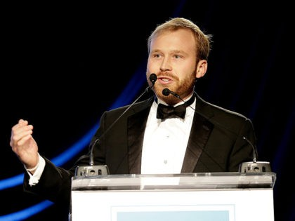 HOUSTON, TX - NOVEMBER 6: Presenter & NextGen After Party Co-Chair Pierce Bush speaks onstage at the UNICEF Audrey Hepburn Society Ball honoring former first lady Barbara Bush at the Hilton Americas Hotel on November 6, 2015 in Houston, Texas. (Photo by Bob Levey/Getty Images for U.S. Fund for UNICEF)