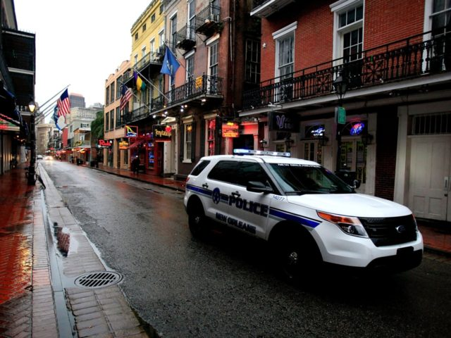 NEW ORLEANS, LA - JANUARY 28: New Orleans Police patrol the French Quarter as winter weather threatens the metro area on January 28, 2014 in New Orleans, Louisiana. Due to icy conditions, many businesses and schools are closed in the metro area through Thursday. (Photo by Sean Gardner/Getty Images)