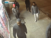 A still image taken from a surveillance video provided by NYPD shows suspects in connection to a mugging of a 60-year-old man on, Dec. 24, 2019 in the the Morrisania neighborhood of the Bronx in New York. Juan Fresnada died on Dec. 27, at the Bronx hospital where he was …