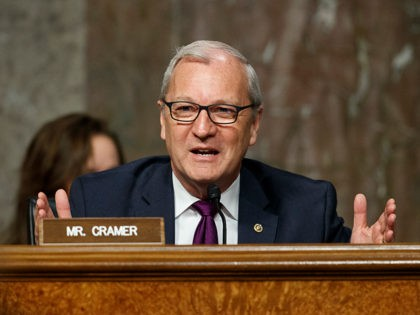 "Senate Armed Services Committee member Sen. Kevin Cramer, R-N.D., speaks during a Senate Armed Services Committee hearing on ""Nuclear Policy and Posture"" on Capitol Hill in Washington, Thursday, Feb. 29, 2019. (AP Photo/Carolyn Kaster)"