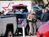 WHITE SETTLEMENT, TX - DECEMBER 29: Authorities work the scene after a shooting took place during services at West Freeway Church of Christ on December 29, 2019 in White Settlement, Texas. The gunman was killed by armed members of the church after he opened fire during Sunday services. According to …