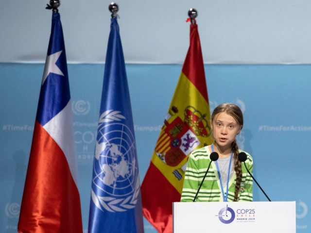 MADRID, SPAIN - DECEMBER 11: Swedish environment activist Greta Thunberg gives a speech at the plenary session during the COP25 Climate Conference on December 11, 2019 in Madrid, Spain. The COP25 conference brings together world leaders, climate activists, NGOs, indigenous people and others for two weeks in an effort to …