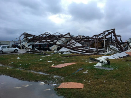 This photo shows some damage by a tornado in Alexandria, La., Monday, Dec. 16, 2019, after storms went through the area. Strong storms moving across the Deep South killed at least one person Monday and left a trail of smashed buildings, splintered trees and downed power lines the week before …