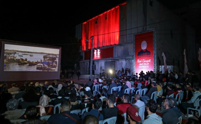 Red carpet but no cinema as Gaza film festival forced outdoors