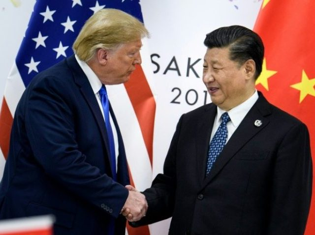 US President Donald Trump, pictured with China's President Xi Jinping at the 2019 G20 Summit in Osaka, is keen to seize back the political initiative and show voters his punishing trade war with China has brought results