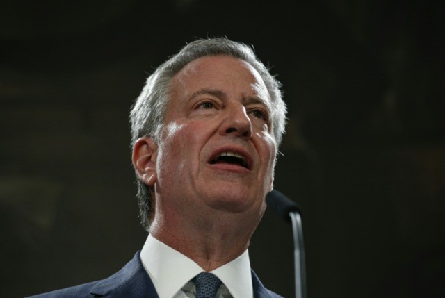 New York Mayor Bill de Blasio said there is a growing 'crisis' of anti-Semitism in the United States