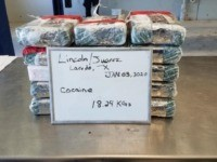 CBP officers seize 40 pounds of cocaine at the Juarez-Lincoln International Bridge in January 2020. (Photo: U.S. Customs and Border Protection/Laredo Port of Entry)