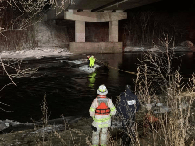 WATER RESCUE: Kenduskeag Stream under the I95 bridge. Station 6 and Central Station successfully rescued a male individual from the middle of the river. All units clear. One transported for evaluation.