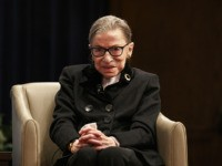 Supreme Court Justice Ruth Bader Ginsberg attends Georgetown Law's second annual Ruth Bader Ginsburg Lecture, Wednesday, Oct. 30, 2019, in Washington. (AP Photo/Jacquelyn Martin)