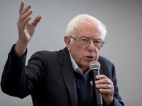 Democratic presidential candidate Sen. Bernie Sanders, I-Vt., speaks at Berg Middle School, Saturday, Jan. 11, 2020, in Newton, Iowa. (AP Photo/Andrew Harnik)
