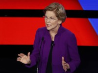 Democratic presidential candidate Sen. Elizabeth Warren, D-Mass., speaks Tuesday, Jan. 14, 2020, during a Democratic presidential primary debate hosted by CNN and the Des Moines Register in Des Moines, Iowa. (AP Photo/Patrick Semansky)